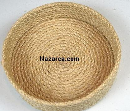 How-flower-basket-of-rope is made-6