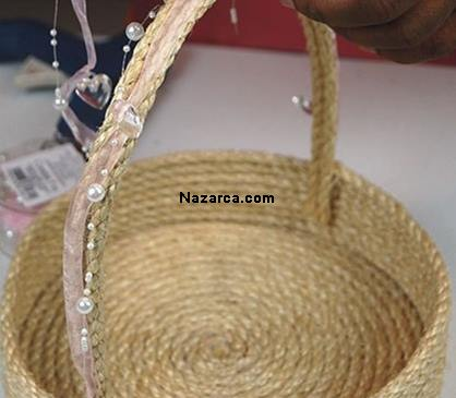 How-flower-basket-of-rope is made-7