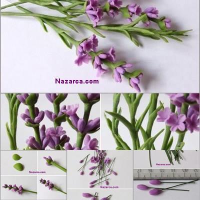 Fimo polimer kil ile Lavanta çiçeği yapımı