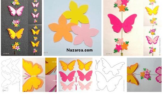 duvardaki-kagit-kelebekler-cicekler(1)
