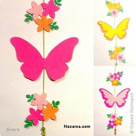 duvarlardaki-kagit-kelebekler-cicekler-2
