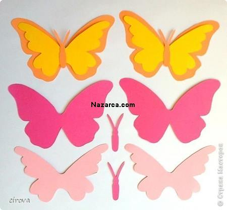 duvarlardaki-kagit-kelebekler-cicekler-5