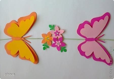 duvarlardaki-kagit-kelebekler-cicekler-7