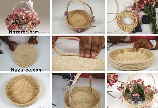 How-flower-basket-of-rope is made