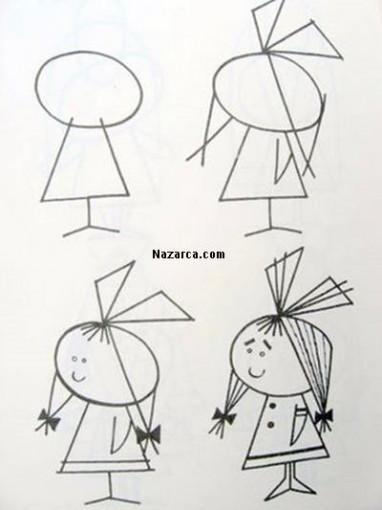karikatur-kiz-cizme