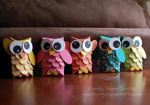 sevimli karton baykuş ilkokul etkinligi-4