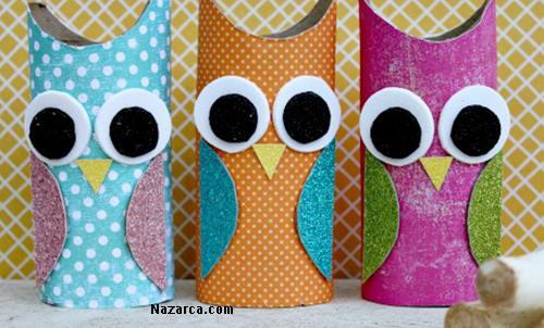 sevimli karton baykuş ilkokul etkinligi