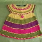 yazlik-dusuk-kollu-rengarenk-sevimli-kiz-bebek-orme-elbise