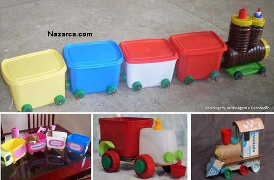 Dondurma Kaplarından Oyuncak Arabalar