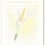 beyaz-sari-sade-mektup-icin-cizgili-cikti-sayfasi