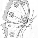 cicekli-desenli-kelebek-yan-gorunen-kelebek