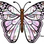 eflatunlu-siyahli-kelebek-sablon-resmi