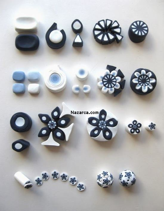 fimo-siyah-beyaz-cicekli-fimo-polymer-clay