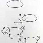 karikatur-domuz-resmi-ciz