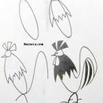 karikatur-horoz-cizimi