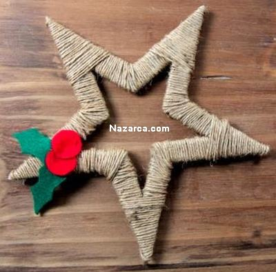 karton-ve-iplerden-dekoratif-noel-yildizi-yapimi