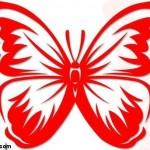 kirmizi-renkli-kelebek-sablonu