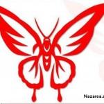 kirmizi-zarif-kelebek-sablonu