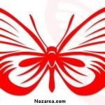 kirmizili-beyazli-kelebek-sablonu