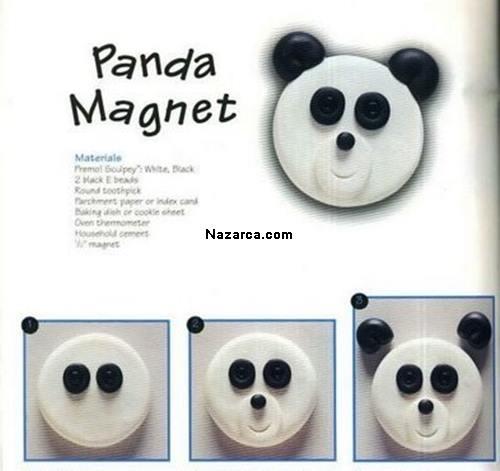Fimo-panda-magnet