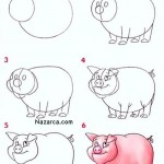 pembe-komik-cizgifilm-domuz-resmi-cizimi