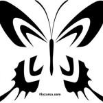 sekillerle-cizilmis-siyah-beyaz-kelebekler