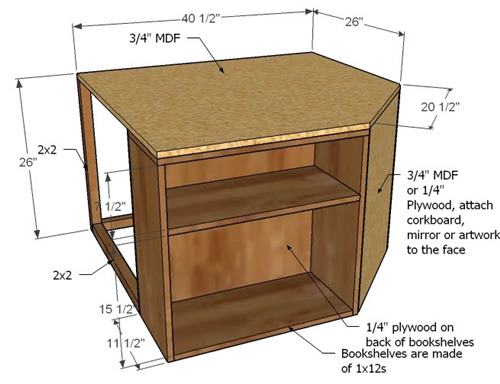 knockoffwood storage bed top hutch-dekor
