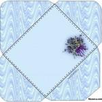 mavi-cicek-desenli-zarf-sablonu