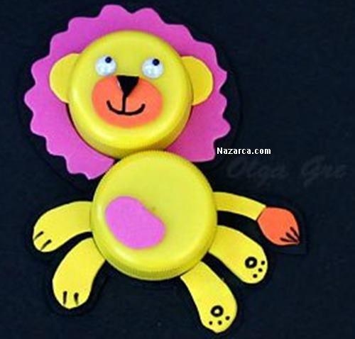plastik-sise-kapaklarindan-aslan