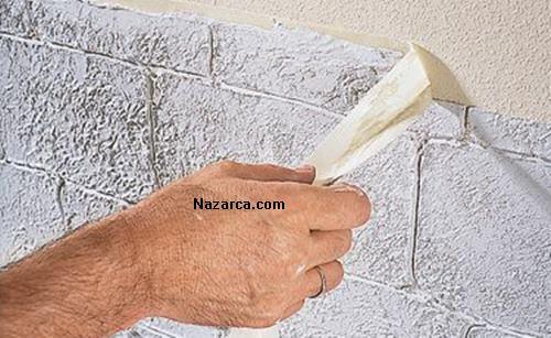 Taş Görünümlü Duvar Nasil Yapiliyor Nazarcacom