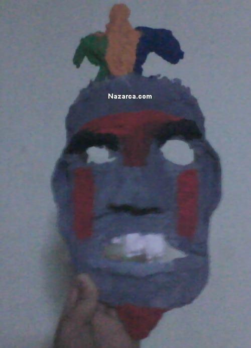6sinif ödevi Kağit Hamurundan Maske Yapma ödevi çalişmalari