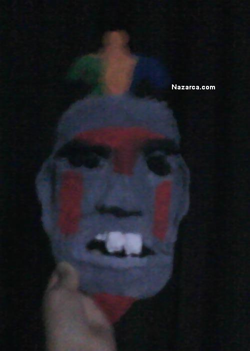 Kağıt Hamurundan Kızılderili Maskesi
