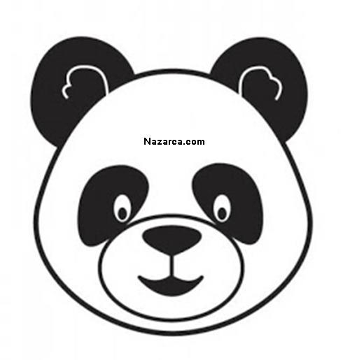 Kartondan ödev Için Panda şeklinde Saat Yapilişi Nazarcacom