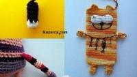 Amigurumi Tablet Ve Cep Telefonu Kedili Kılıfı Örme Resimli