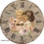 eskitme-cocuk-resimli-saat-sablonlari