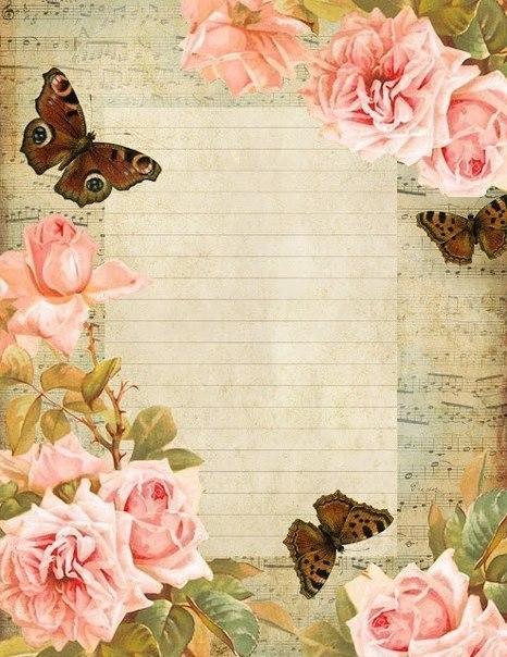 eskitme-gorunumlu-cizgili-gullu-kelebekli-kagit-sayfalar