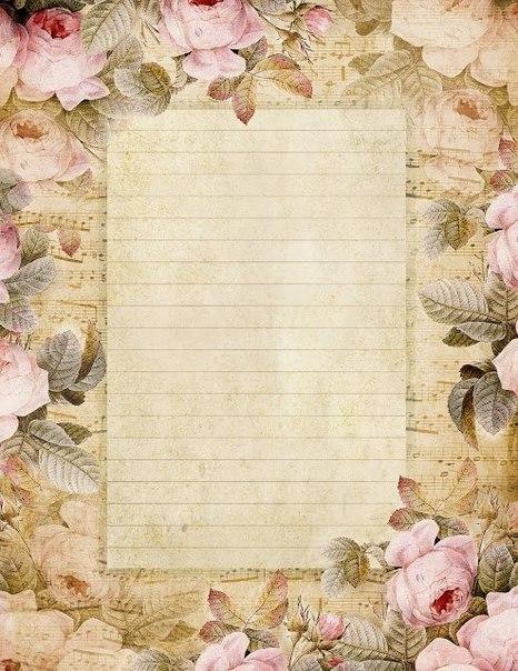 eskitme-gorunumlu-cizgili-gullu-notali-kagit-sayfalar-dosyalar