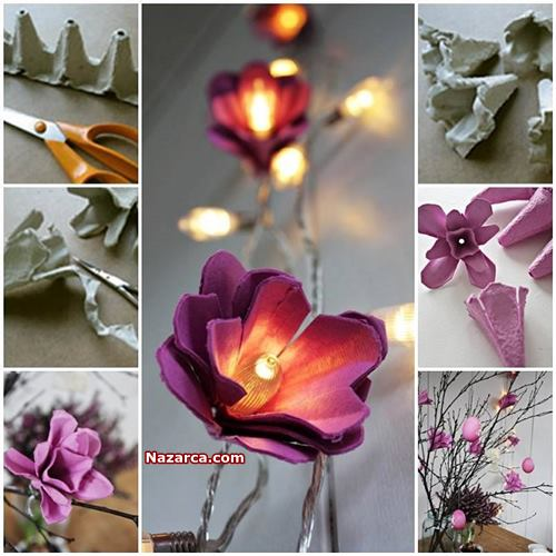 Işıklı Çiçek Yapılışı