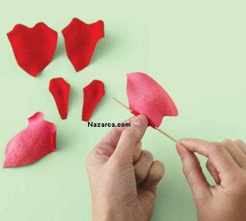 kalp-seklindeki-renkli-A4-kagitlarindan-gul-yapimi-2