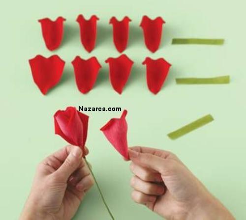 kalp-seklindeki-renkli-A4-kagitlarindan-gul-yapimi-4