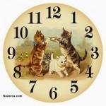 kedi-resimli-saat-sablonu
