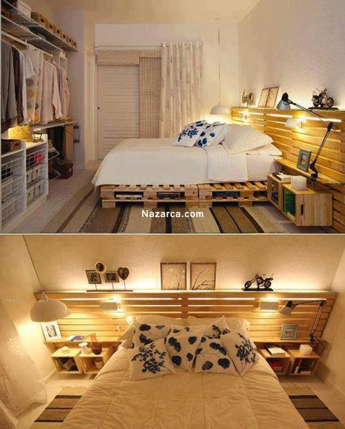 tahta-ahsap-palerlerle-yatak-odası-dekore