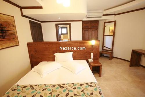 datca-orcey-hotel-sato-evleri-standart-oda-yatak