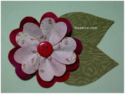 desenli-kağıtla-dekoratif-çiçek-resimli