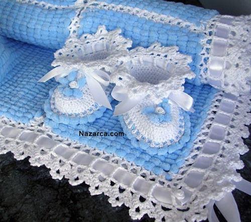 Dut İp Örgü Battaniye Yapımı
