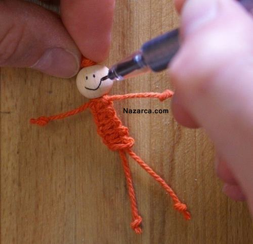 Как сделать человечка с ниток 135