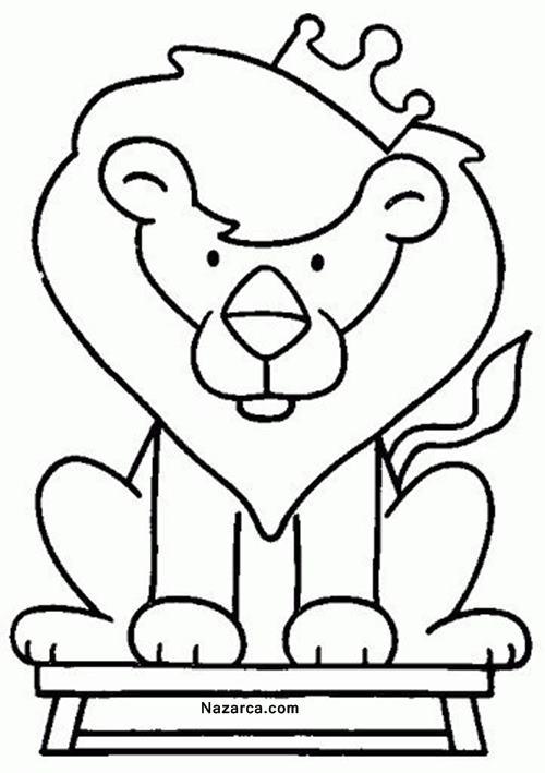 okul-oncesi-hayvan-boyama-sablonlari--kral-aslan