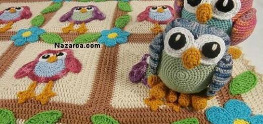 Baykus-motifli-bebek-battaniyesi