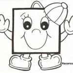 Anaokulu Okul öncesi Komik Geometrik Boyama Resimleri Nazarcacom