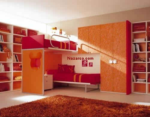 turunculu-kirmizili-cocuk-odasi-dekoru